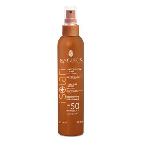 I Solari Spray Solare Fluido Viso Corpo SPF 50