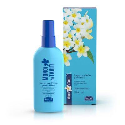 Monoi de Tahiti Olio Protettivo Spray Capelli SPF 6 di Helan