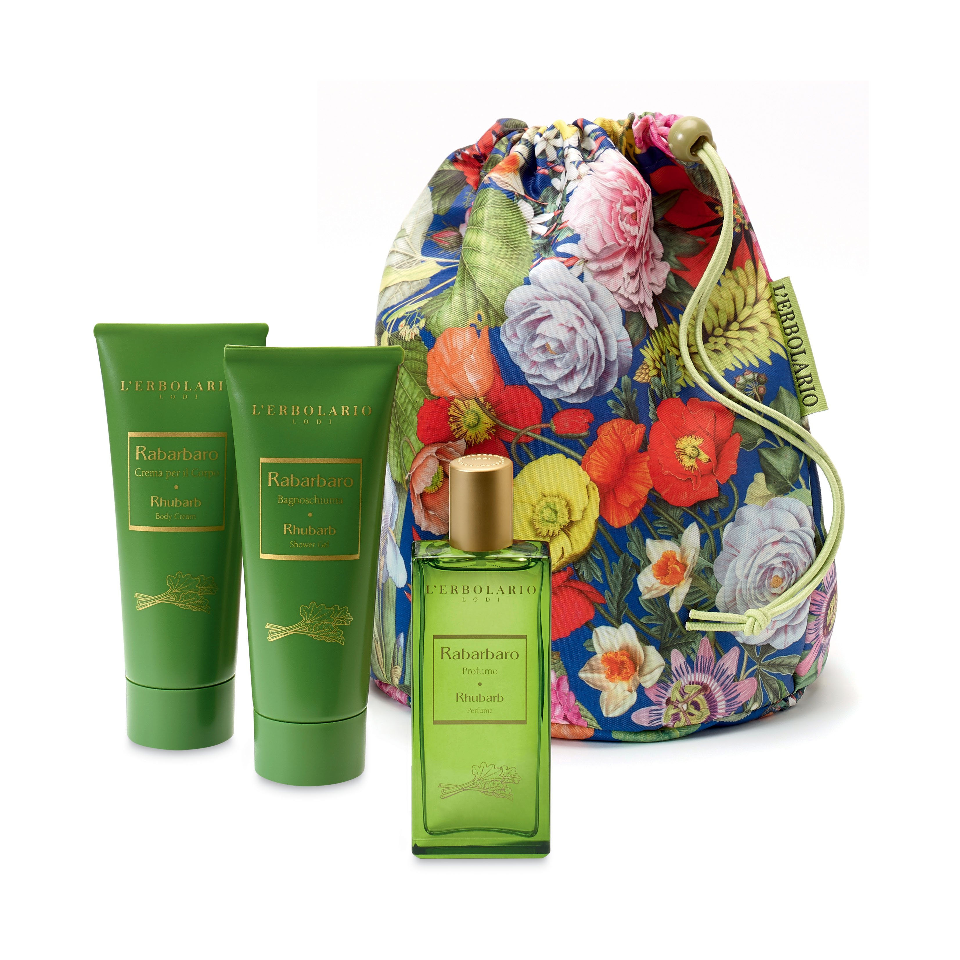 Beauty Bag Trio Rabarbaro di Erbolario