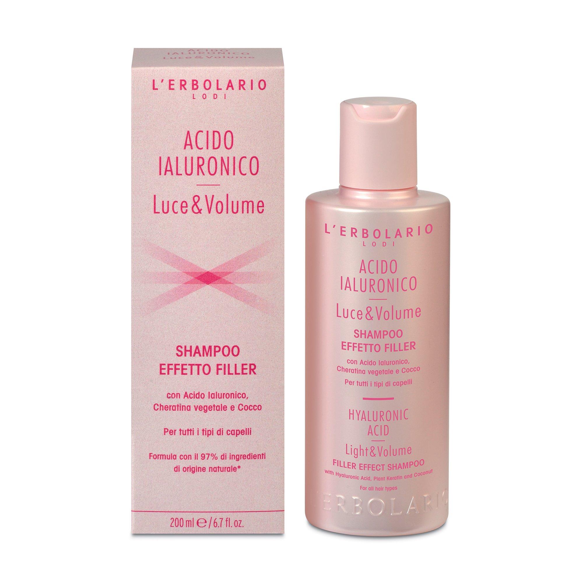 Acido Ialuronico Luce e Volume Shampoo Effetto Filler di Erbolario