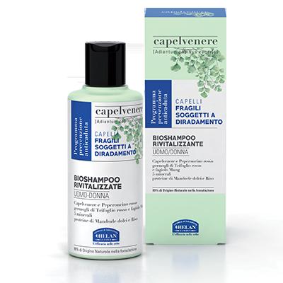 Capelvenere Bio Shampoo Rivitalizzante Uomo Donna di Helan