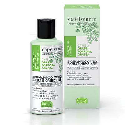 Capelvenere Bio Shampoo Ortica Edera Crescione di Helan
