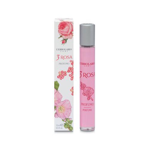 3 Rosa profumo da 15ml di Erbolario