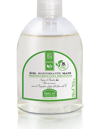 Gel Igienizzante Mani 250ml di Helan con dispenser