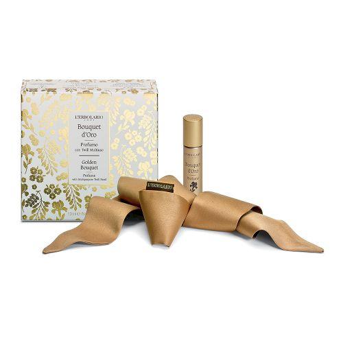Bouquet d'Oro Profumo 10ml con Twill Multiuso di Erbolario