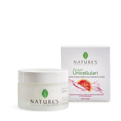 Acqua Unicellulare Crema Maschera Nutriente Viso di Nature's