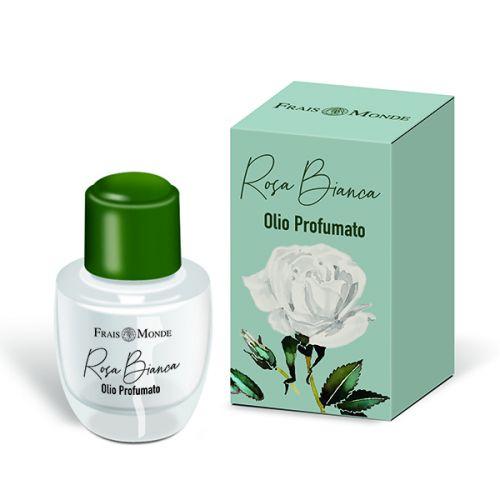 Rosa Bianca Olio Profumato Frais Monde